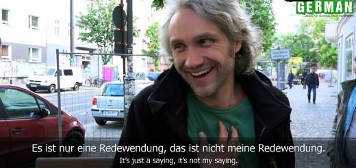 ¿Qué frase hecha en alemán es la que primero se te viene a la cabeza?